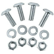 Unique Accessories 93367 Stainless Steel License Plate Fastener - 4 Pack