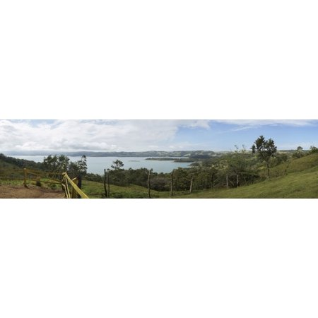 View of Arenal Volcano National Park Costa Rica Canvas Art - Panoramic Images (48 x