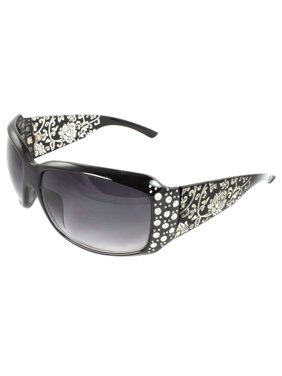 fe2e07c300 Product Image Fashion Sunglasses Black Frame in Floral Pattern Design  Purple Black Lenses for Women