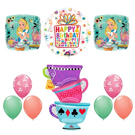 ALICE IN WONDERLAND Tea Party Birthday Balloons Decoration Supplies Tea - Alice In Wonderland Birthday Decorations