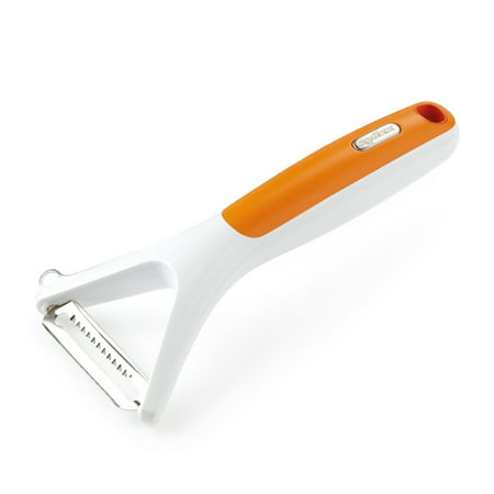 ZYLISS Julienne Peeler - Stainless Steel Swivel Blade Perfect For Vegetables - With Eye Cutter (Steel Swivel Peeler)