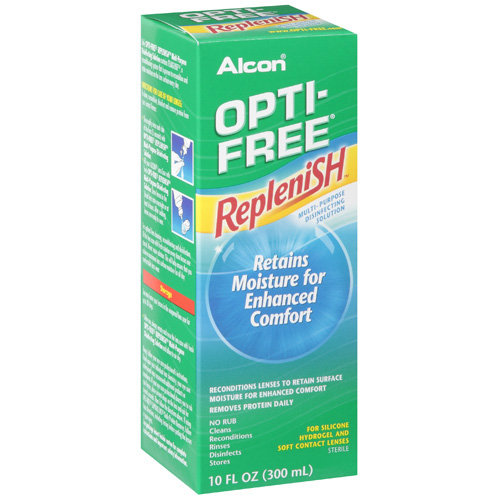 ALCON OPTI-FREE REPLENISH Contact Lens Care Cleaning & Disinfecting Solution - 10 fl oz