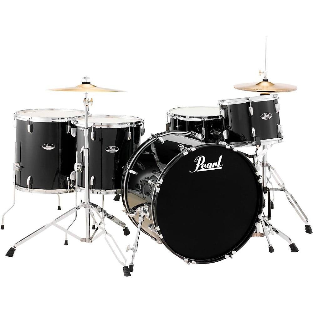 Pearl Roadshow 5-Piece Rock Drum Set Jet Black by Pearl
