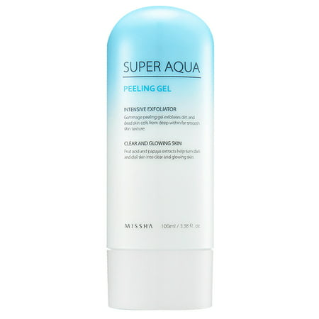 MISSHA Super Aqua Peeling Gel, 3.38 Oz