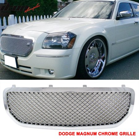 Fits 05-07 Dodge Magnum Mesh Style Front Grill Grille Chrome - (Chrome Plated Mesh Grille Grill)