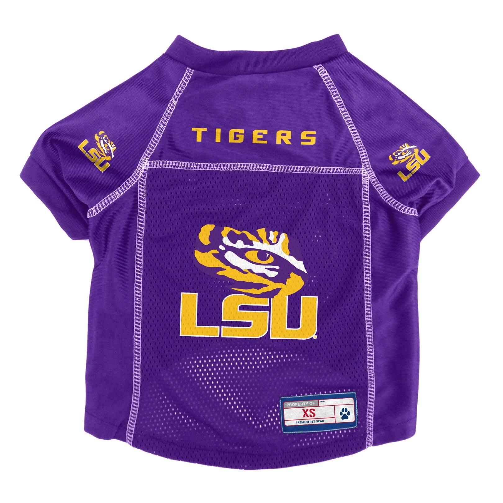 LSU Tigers Pet Jersey Size XS