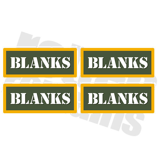 "Blanks Ammo Can 4 Pack 3"" Olive OD Sticker Gun Ammunition Box Case Decal"