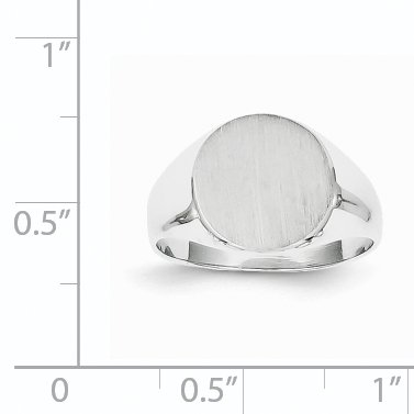 14K White Gold Signet Ring - image 1 of 5