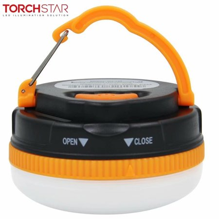TORCHSTAR Battery Powered LED Camping Lantern, LED Camping Light for Tent, Hiking, Traveling, Adventures, Emergency Night Lighting, Orange
