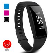 Fitness Tracker Smart Wristband, Activity Tracker with Heart Rate Monitor, Smart Fitness Watch with Sleep Monitor, Step Counter, Calorie Counter, Pedometer, Call/SMS Reminder Watch Fit for Android IOS