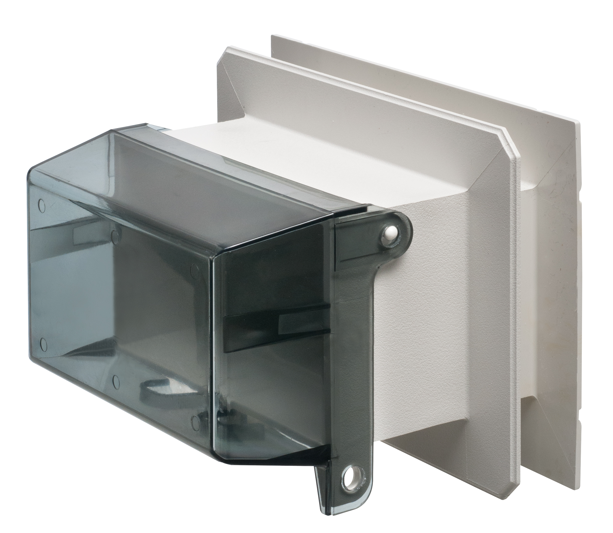 Arlington   F8091VC   Vertical One Piece Outlet Box For Siding   Clear    Walmart.com