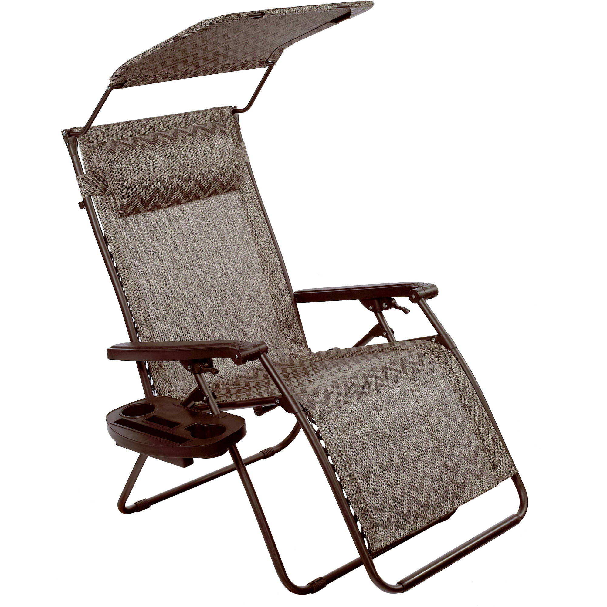 bliss hammocks deluxe xl gravity free recliner zero gravity lounge chair with sunshade canopy adjustable pillow and cup holder  utility tray folds easily     bliss hammocks deluxe xl gravity free recliner zero gravity lounge      rh   walmart