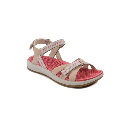 Bare Traps Womens Wolfe Leather Open Toe Casual Sport Sandals, Praline, Size (Womens Praline)
