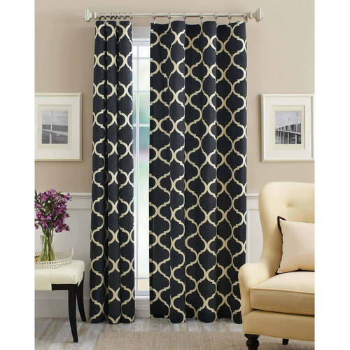mainstays canvas iron work curtain panel  walmart,