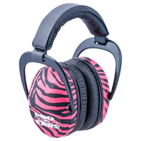 Pro Ears Standard Hearing Protection Ultra Sleek, NRR 26, Zebra