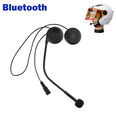 Hands Free Voice Command Motorcycle Helmet Bluetooth Headset Headphone Speakers Mic Handsfree Wireless, Upgraded Thinner Design Wireless Headset Microphone Powered Speaker