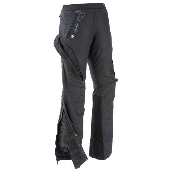 Joe Rocket Alter Ego Womens Armored/Padded Black Textile ...