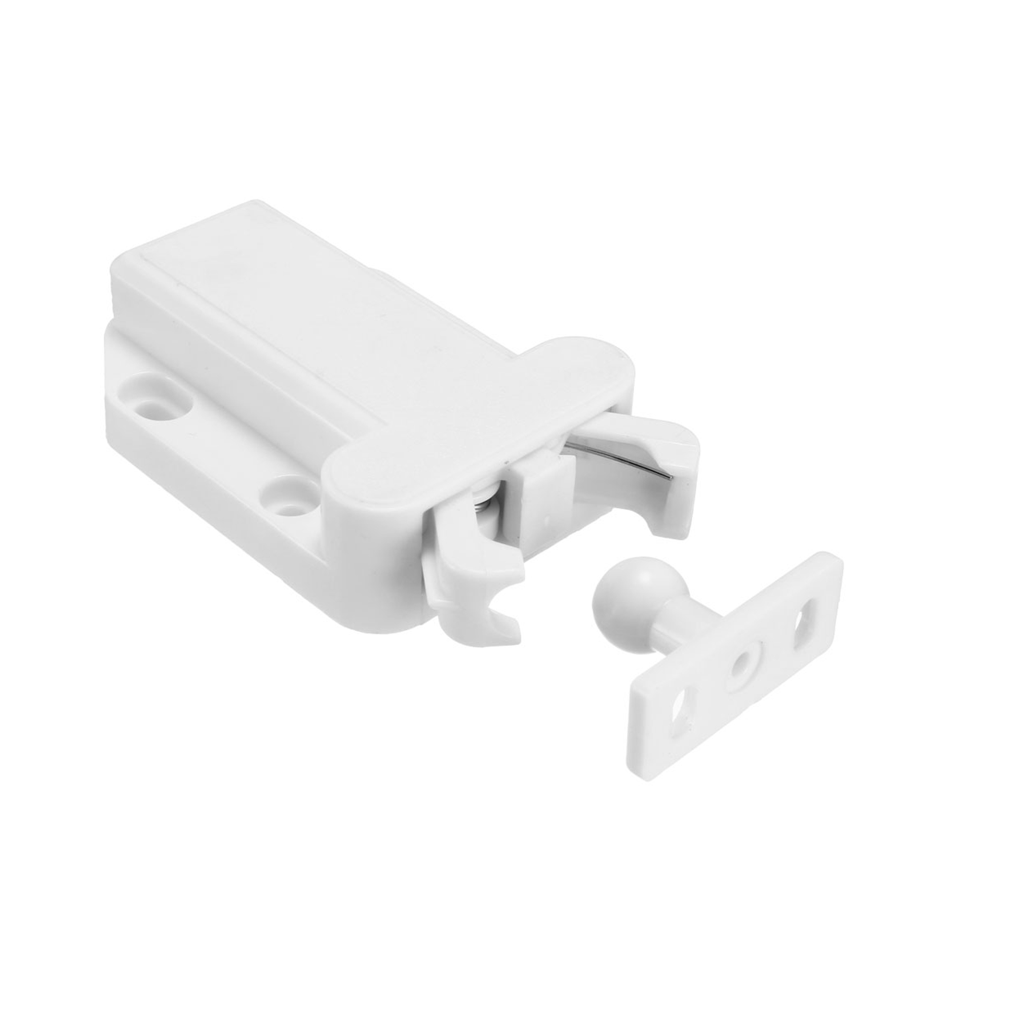 Push Open Latch Lock Touch Catch for Bedroom Cabinet Cupboard Drawer White 5Pcs - image 5 of 8