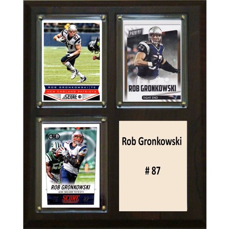 C Collectables Nfl 8X10 Rob Gronkowski New England Patriots 3 Card Plaque