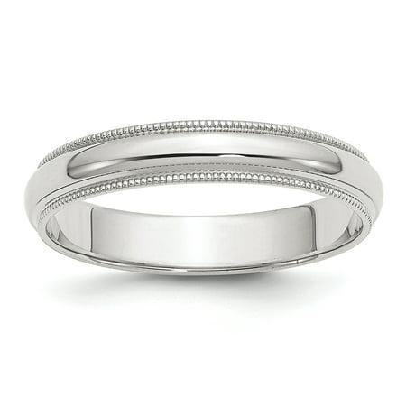 .925 Sterling Silver 4 MM Half-Round Milgrain Wedding Band Ring, Size - Milgrain Wedding Ring