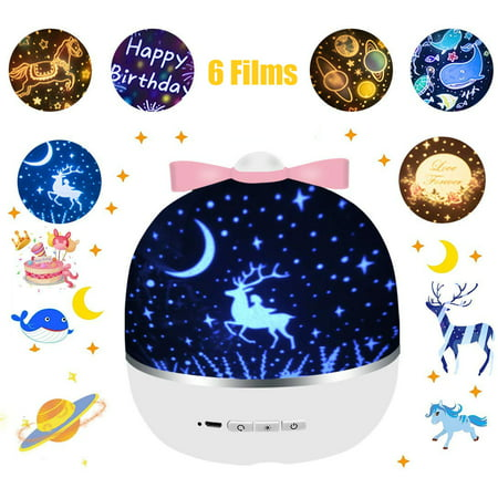 Night Light for Kids, Baby Light Projector with Music , 6 Theme Colorful Projector for Girls Boys - image 1 of 8