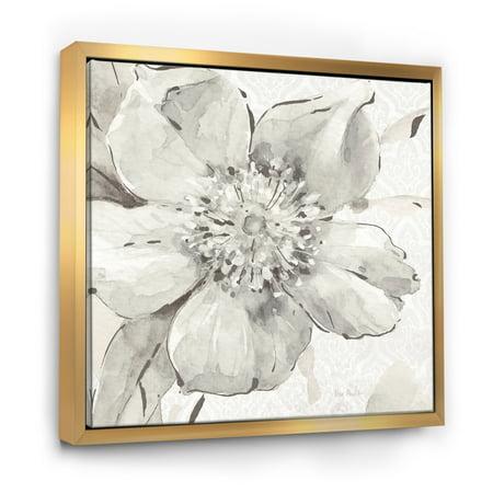 Indigold Grey Peonies III - Farmhouse Framed Canvas - image 3 of 3