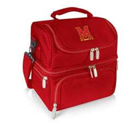 Picnic Time 512-80-100-314-0 University of Maryland Terrapins-Terps Digital Print Pranzo Personal Cooler Lunch Box Tote, Red - image 2 de 2