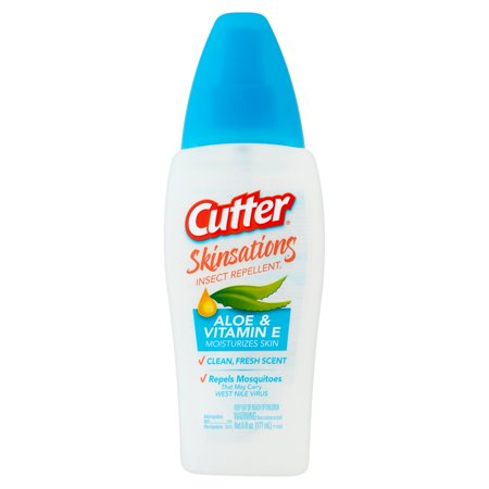 Cutter Skinsations Insect Repellent, Pump Spray, 6-fl