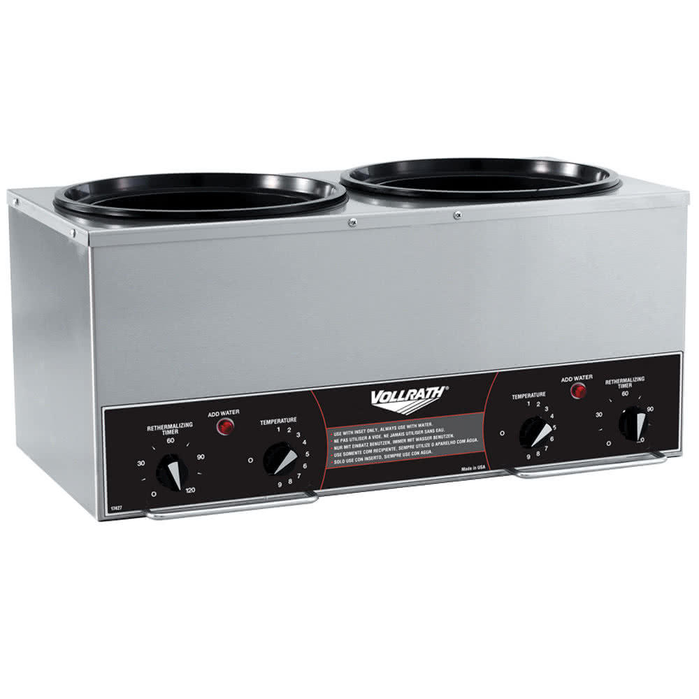TableTop king 72165 11 Quart Soup Warmer Kettle Black - 120V, 650W