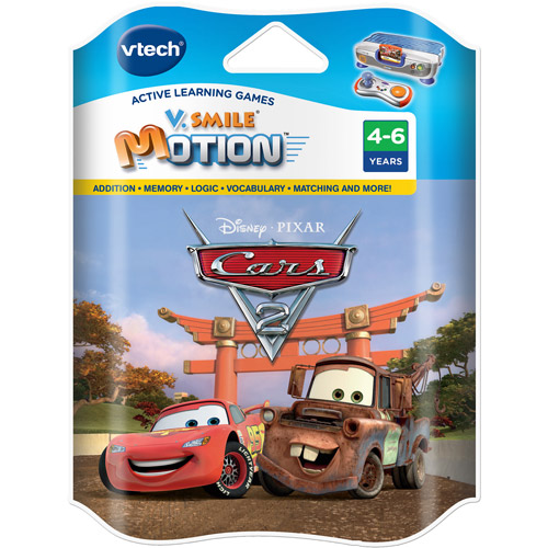 Disney Cars 2 VTech V.Smile Motion Active Learning System Smartridge