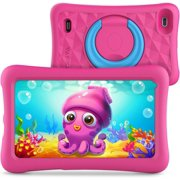 Vankyo MatrixPad Z1 Kids 7 inch tablet , 32GB ROM, Kidoz Pre Installed, IPS HD Display, WiFi, Android System, Kid-Proof Case, Pink