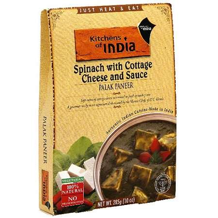 Kitchens Of India Spinach Palak Paneer With Cottage Cheese   Sauce  10 Oz  Pack Of 6