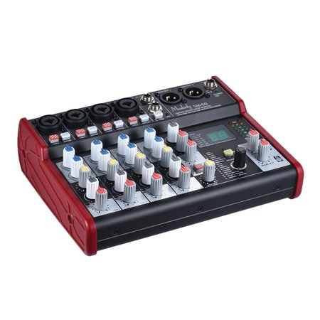 Muslady SM-68 Portable 6-Channel Sound Card Mixing Console Mixer Built-in 16 Effects with USB Audio Interface for Recording DJ Network Live Broadcast