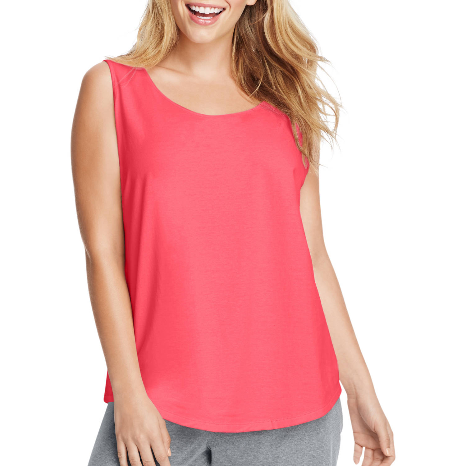 Just My Size Women's Plus-Size Shirttail Tank