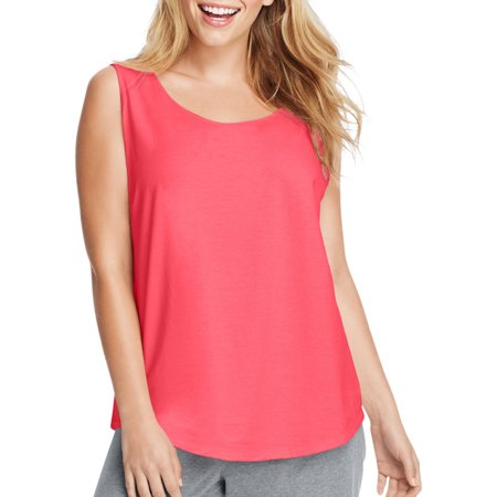 Just My Size by Hanes Women's Plus Size Shirttail Tank