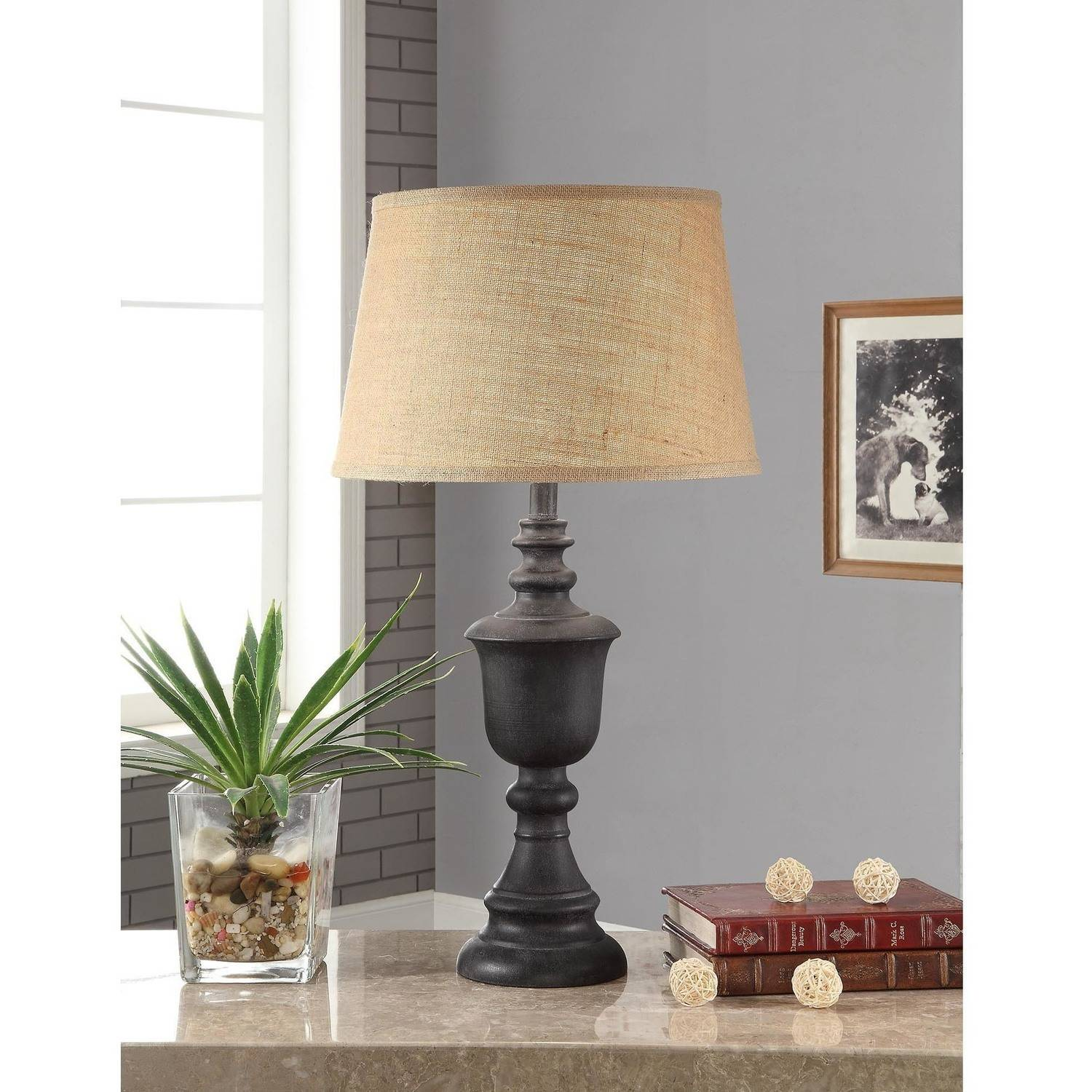 Better Homes and Gardens Rustic Wood Finish Table Lamp by Mastercraft Distribution USA Inc