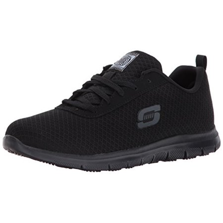 Work Womens Ghenter Work Shoe,Black,11 M US Skechers
