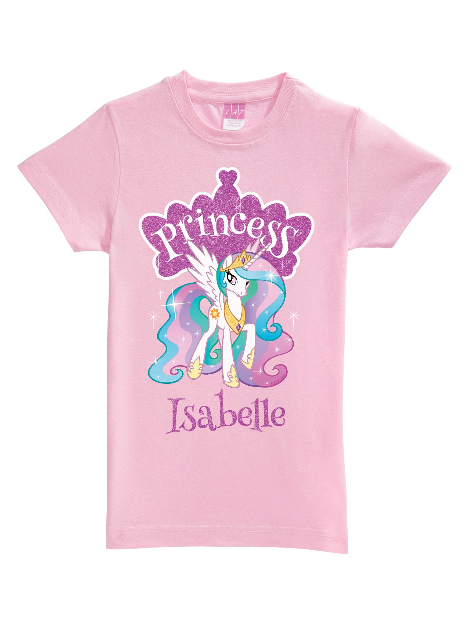 Personalized My Little Pony Princess Celestia Pink Toddler Girls' Fitted T-Shirt