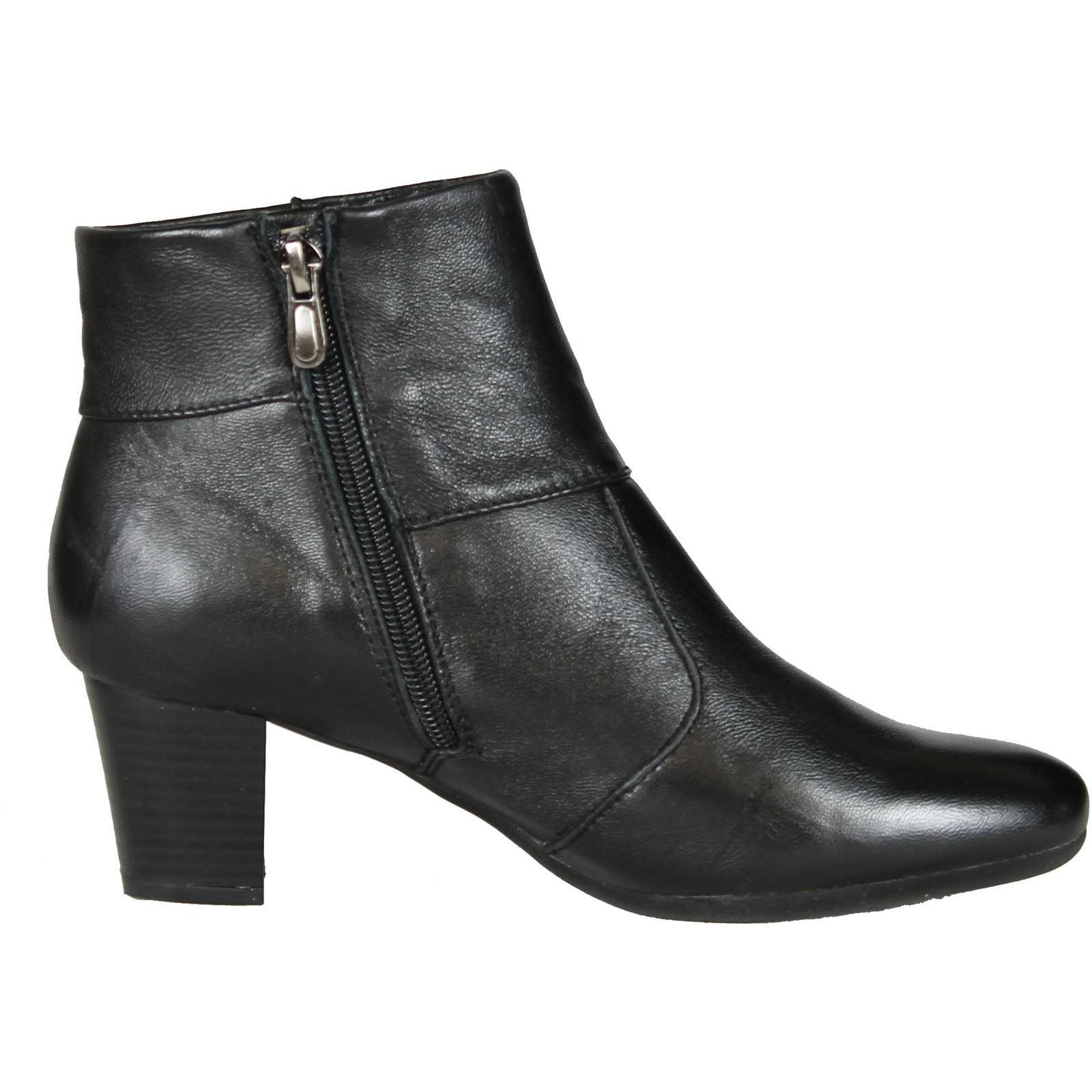 Women's Spring Step Zip Boots 5.5-6 BLACK 36 M EU 5.5-6 Boots M 3a11d6