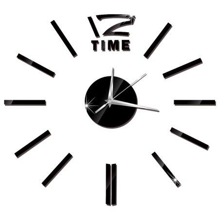 Modern DIY Wall Clock 3D Stirpes Analog Watch Clock Sticker Art Decal for Home Decor Color:Gold - image 6 de 8