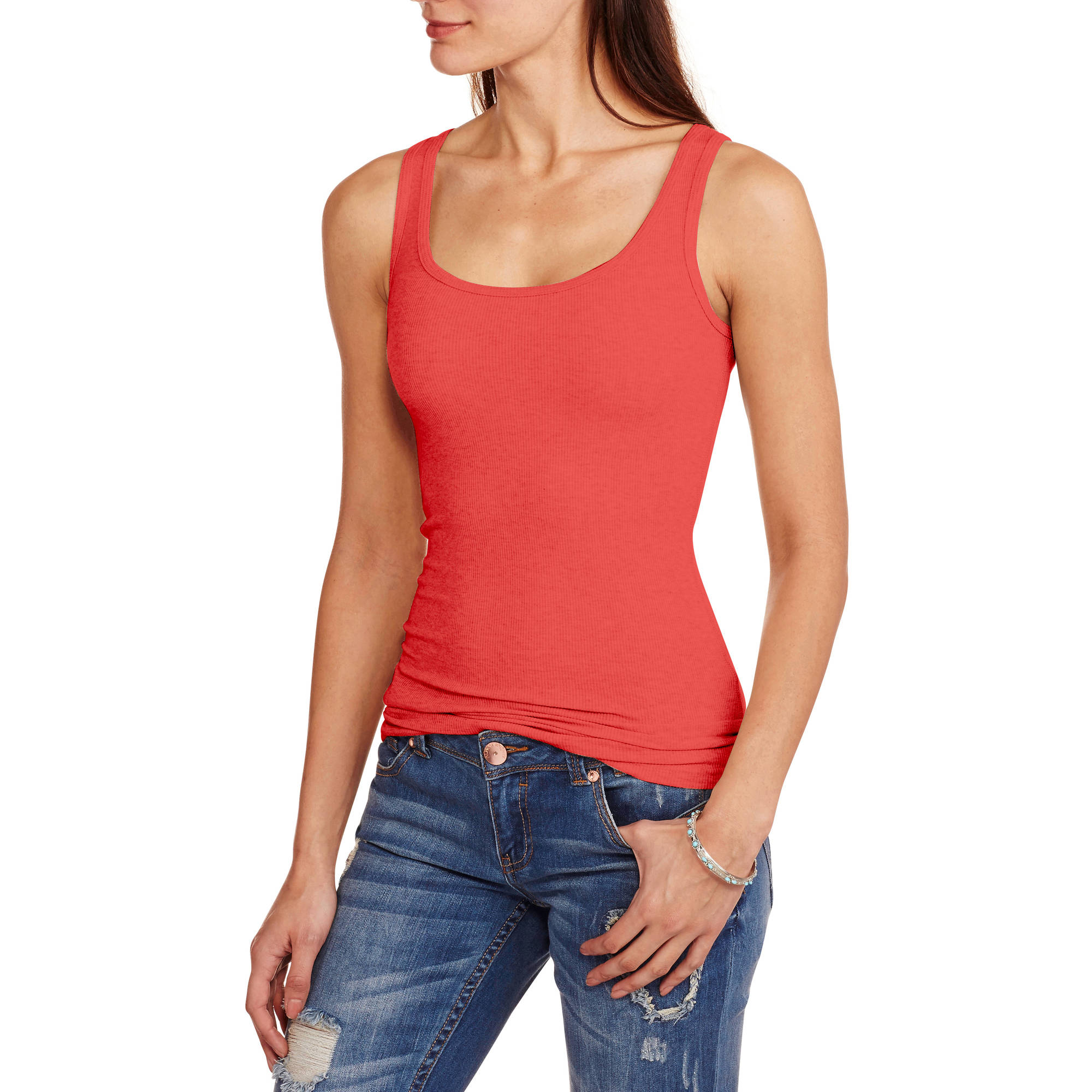 Faded Glory Women's Essential Ribbed Tank Top