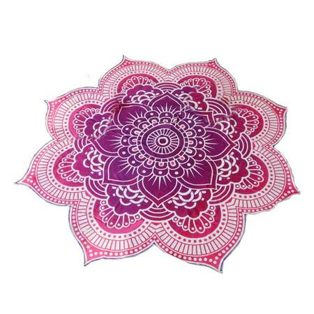 Beach towel mandala tapestry lotus flower shape outdoor roundie beach towel mandala tapestry lotus flower shape outdoor roundie hippie gypsy boho throw towel tablecloth hanging mightylinksfo
