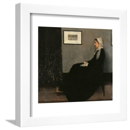 Arrangement in Gray and Black No. 1 (Portrait of the Painters Mother) Framed Print Wall (Arrangement In Grey And Black No 1 Analysis)