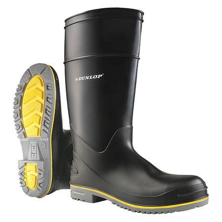 Knee Boots, Sz 12, 15 H, Black, Stl, PR ONGUARD