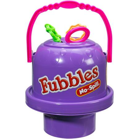 Little Kids Fubbles No-Spill Big Bubble Bucket, Purple