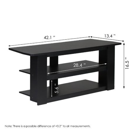 Furinno 12186BK Parsons Television Entertainment Center, 42-Inch, Black