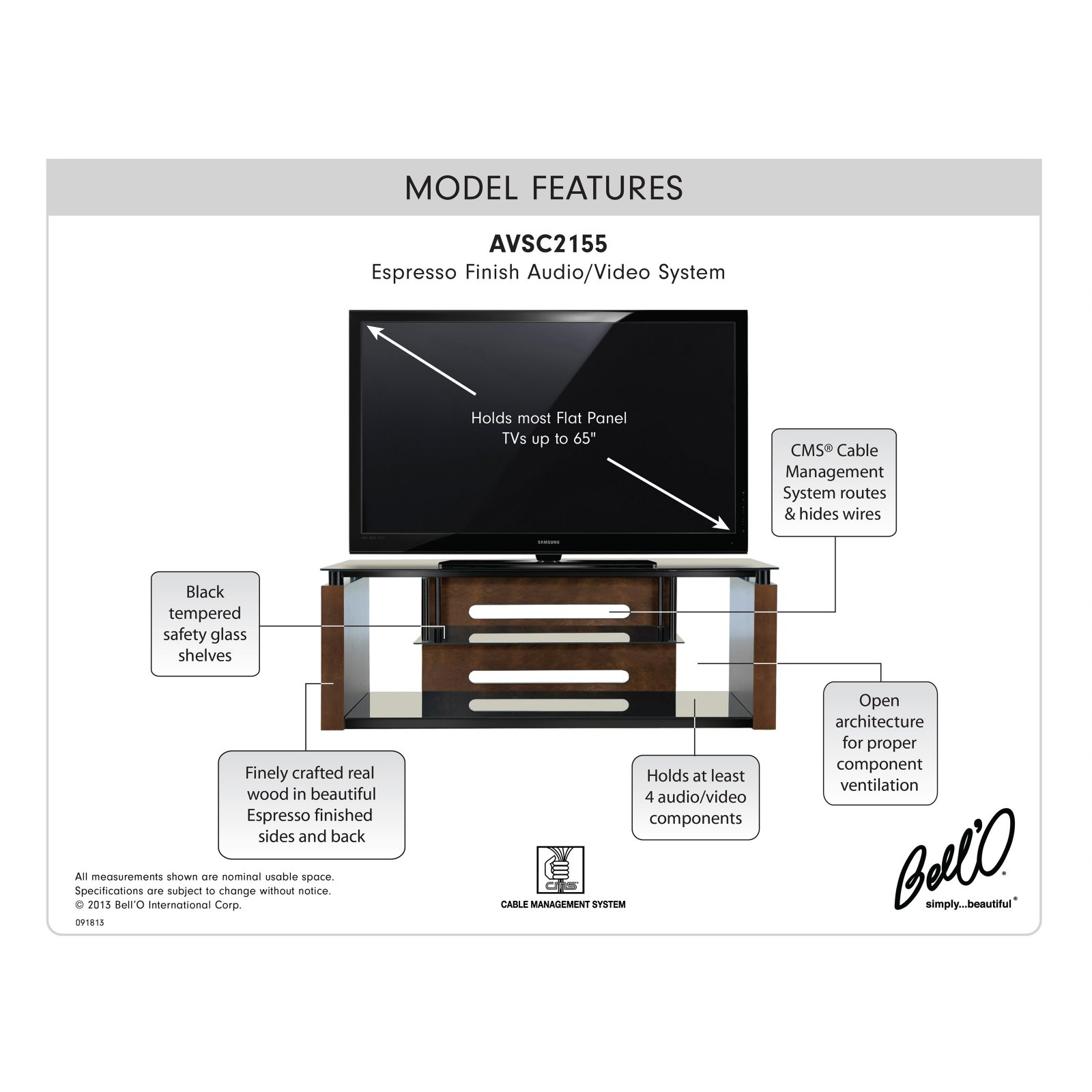 60 Tv Stand For Tvs Up To 65 Espresso Fda S Wiring Diagram
