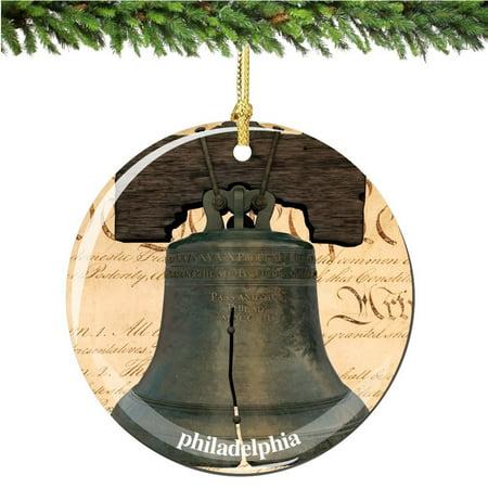 - Philadelphia Liberty Bell Christmas Ornament, Philadelphia Porcelain 2.75