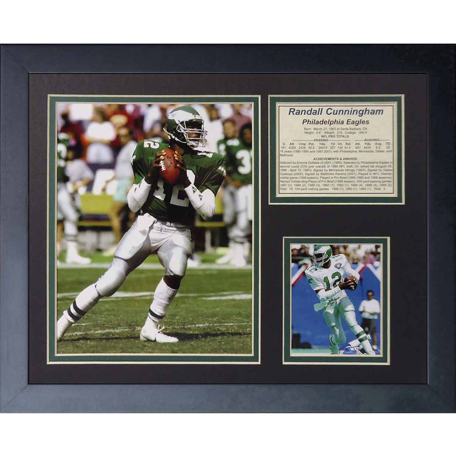 "Legends Never Die ""Randall Cunningham"" Framed Photo Collage, 11"" x 14"""
