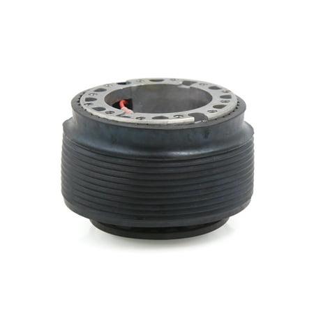 Alloy Steering Links - Car Black Aluminum Alloy Rubber Steering Wheel Hub Adapter Kit Base for Toyota